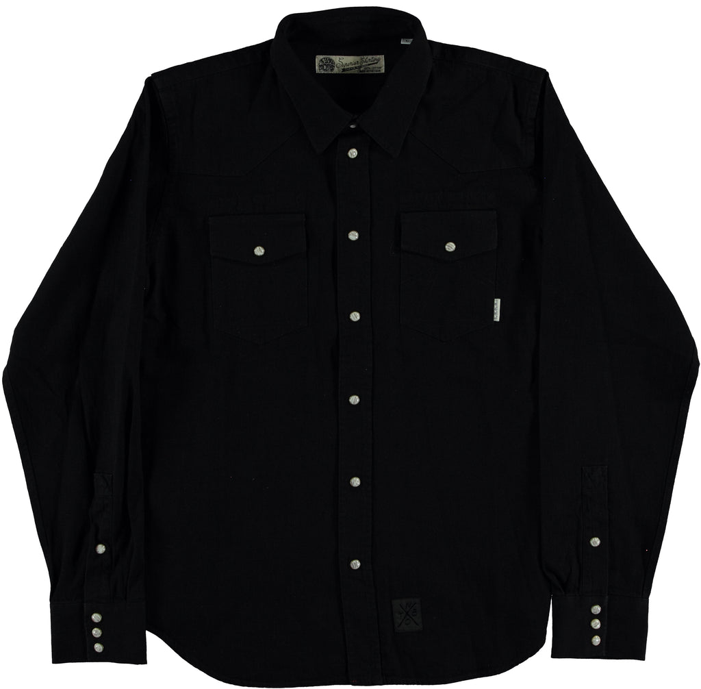 Western Shirt Catch Black Denim