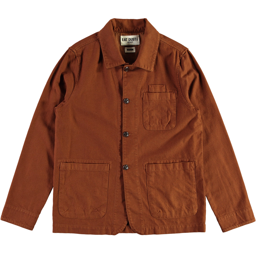 Combat Blazer Cotton Twill Brown