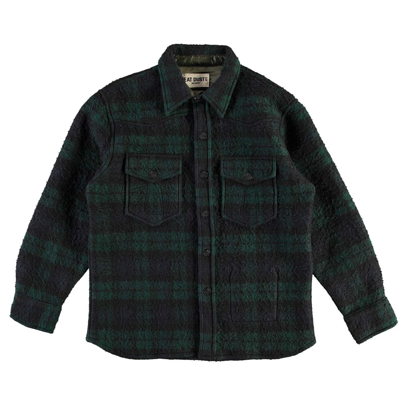 CPO Shirt Vicious Check Navy/Green