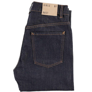 G.o.D Debbie Slim Stretch Selvedge-front view folded