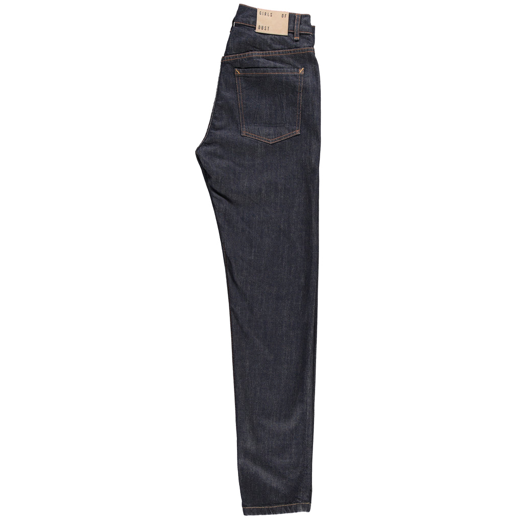 G.o.D Debbie Slim Stretch Selvedge-side view