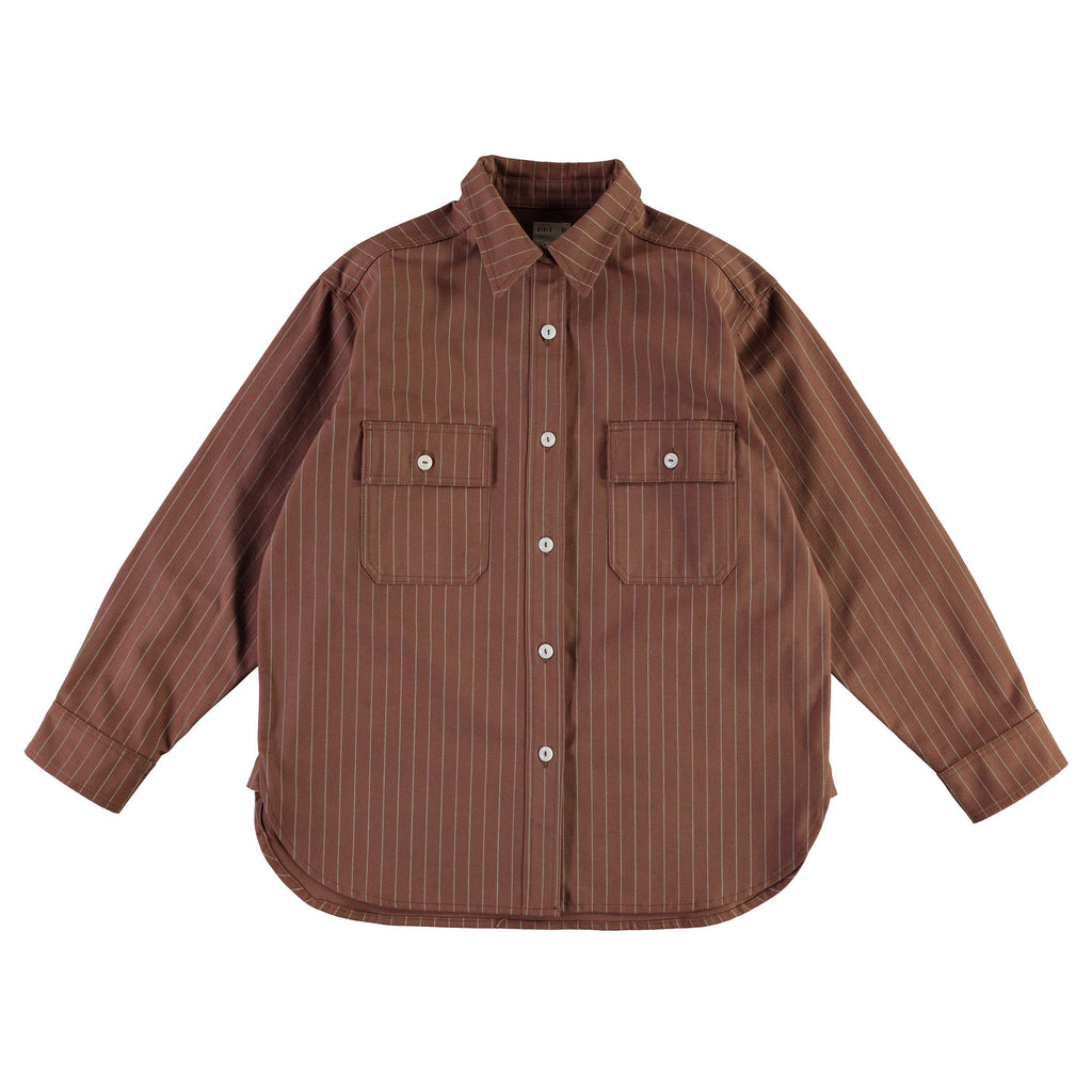 G.o.D Deck Shirt Pinstripe Cotton Caramel