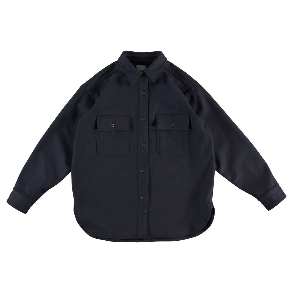 G.o.D Deck Shirt Wool Navy