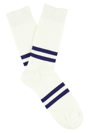 Escuyer socks - Off White / Ink