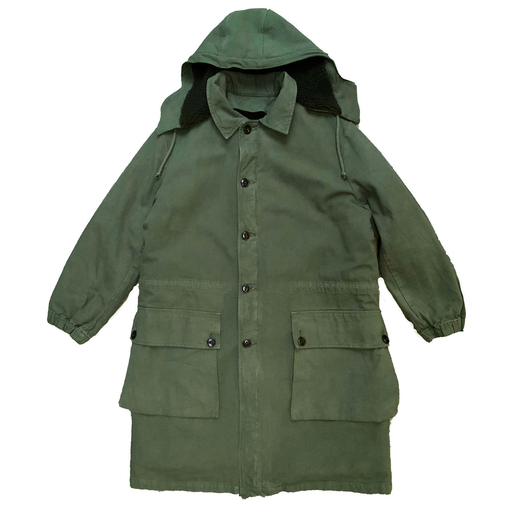 G.o.D Field Coat Coated Bull Denim Racing Green
