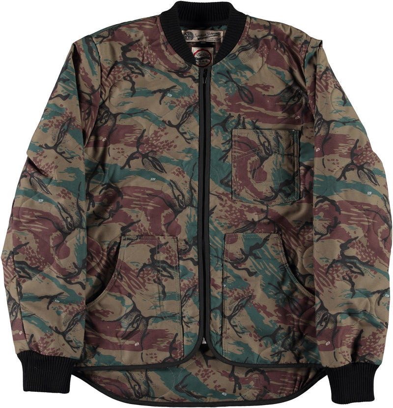 Frostbite Jacket Quilted Nylon Camo-front view