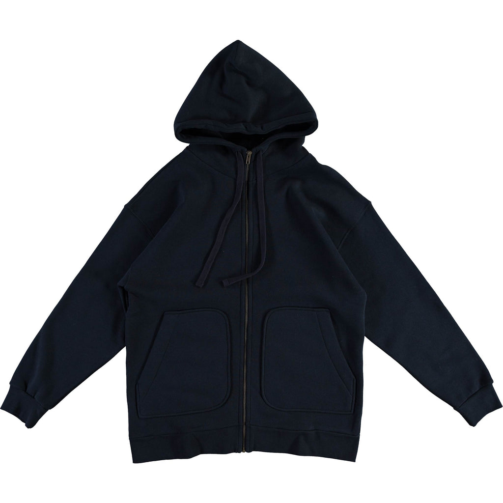 G.o.D Zipper Hoody Cotton Wool Fleece Navy
