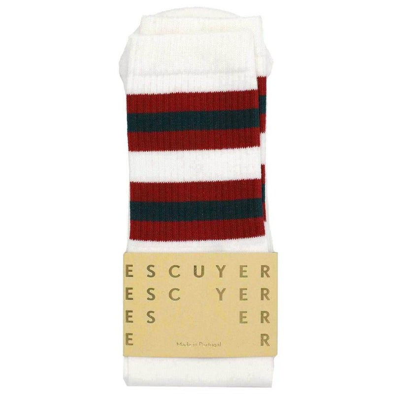 Escuyer socks - Off white/Bossa nova