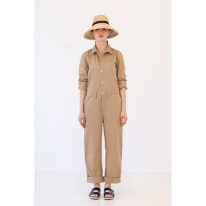 G.o.D Coveralls Madrid Sand-fit view full front
