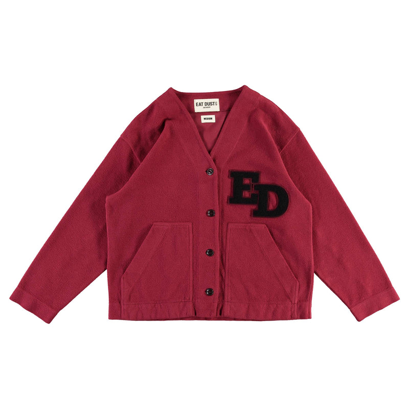 Sweat Ivy Cardigan Heavy Fleece bordeaux