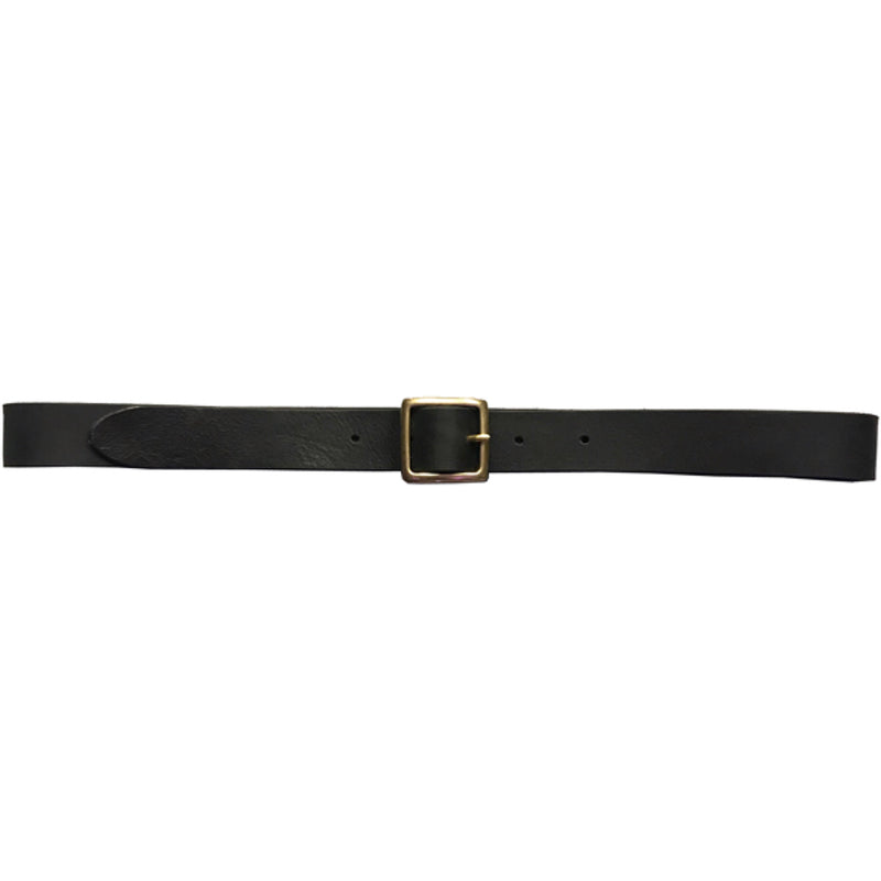 G.o.D Leather Belt Black-front view