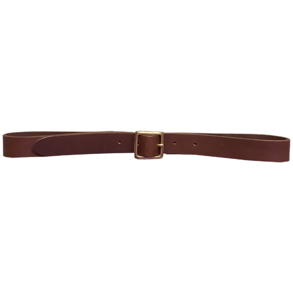 G.o.D Leather Belt Small Brown-front view
