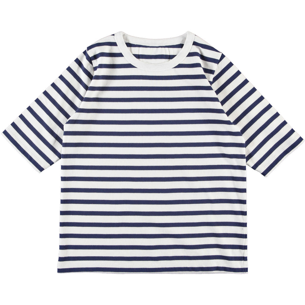 G.o.D Sailor T Cadet Stripe White/Navy