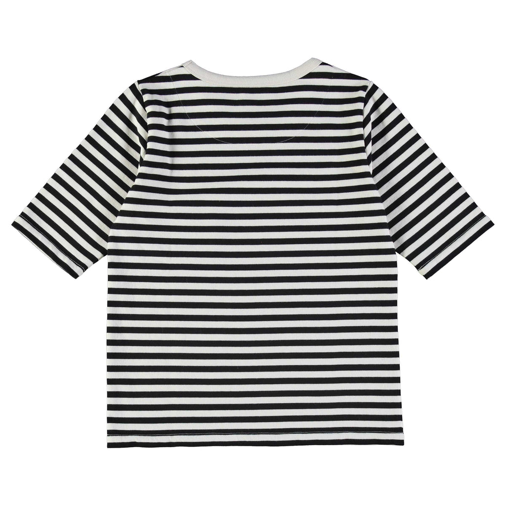 G.o.D Sailor T Stripe Black/White