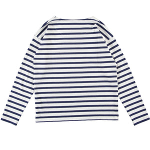 G.o.D Sailor LS Cadet Stripe White/Navy
