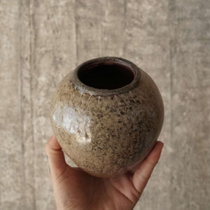 small vase light brown #3