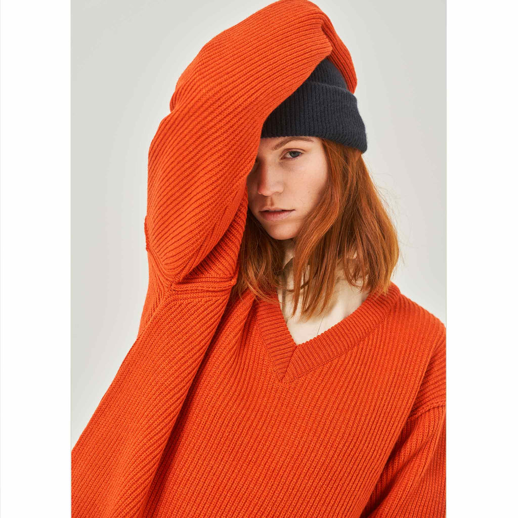 G.o.D V-Neck Knitwear Orange