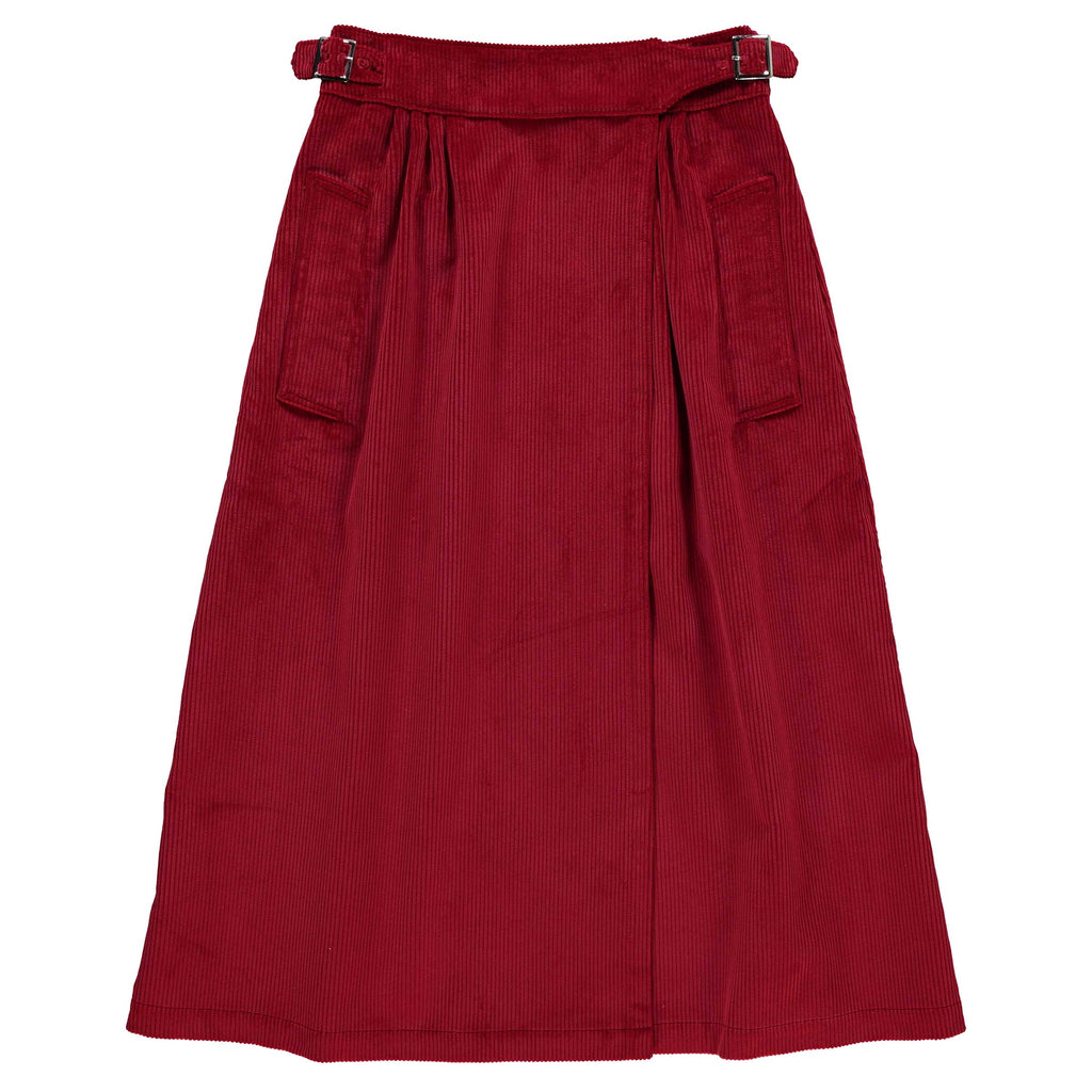 G.o.D Worker Skirt Long 8 Wale Heavy Cords Berry