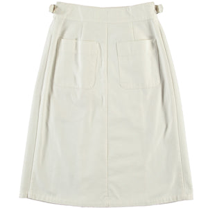 G.o.D Worker Skirt Cotton Twill White
