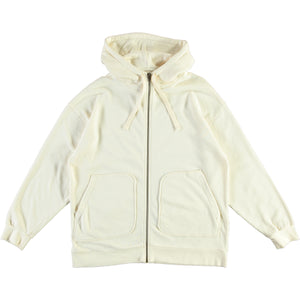 G.o.D Zipper Hoody Cotton Wool Fleece Ecru