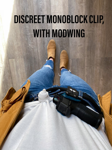 kydex holster with modwing and discreet carry concepts clip