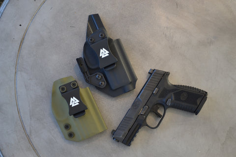 low sweat guard vs. high sweat guard on IWB holsters