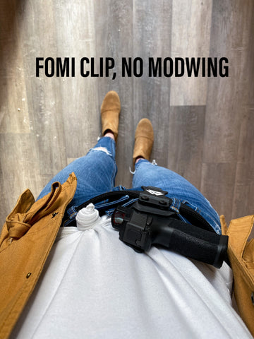 kydex holster with FOMI clip, no Modwing