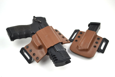 "HK P30/P30L & VP9 Quick Detach Match Weight Holster V2 with Magazine Carrier ""John Wick Combo"""