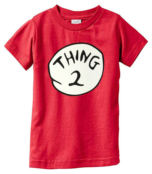 Thing 1 Thing 2 Funny Family Shirt Youth Size XS-XL