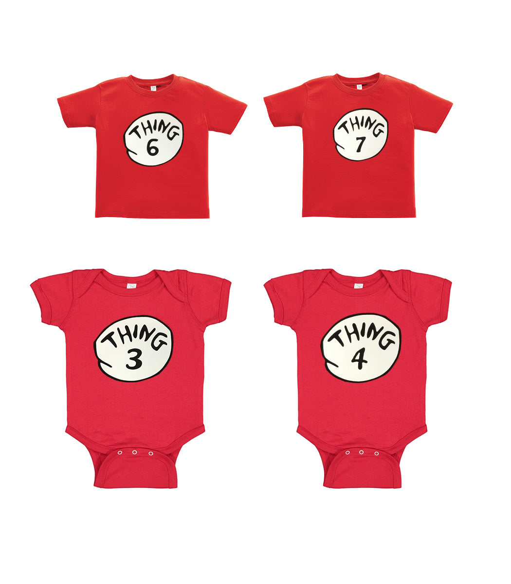Thing 1 Thing 2 Funny Baby Onesie Or T-Shirt New Born - 24 Month