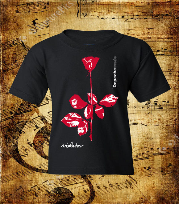 Depeche Mode Violet Flower Logo Youth T-Shirt