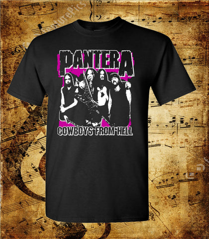 Pantera Cowboys From Hell Whole Band Short Sleeve T-Shirt