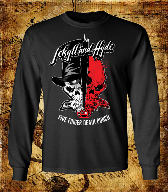 Five Finger Death Punch Jekyll and Hyde Long Sleeve T-Shirt