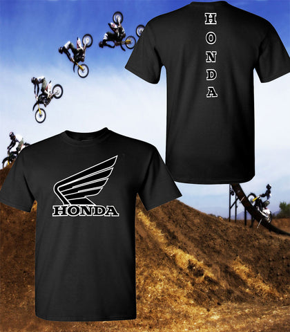 Honda Wing Motorcycle T-Shirt - Honda Racing Team T-Shirt - Unisex Shirt