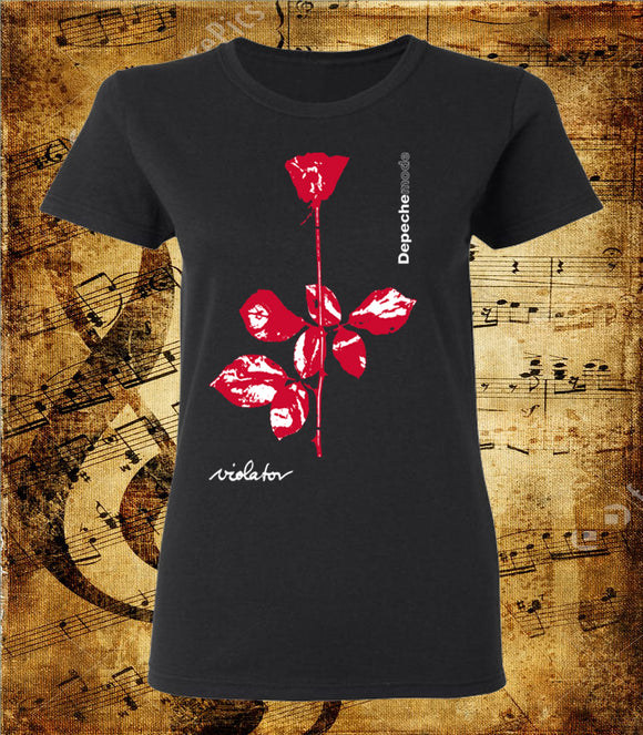 Depeche Mode Violet Flower Logo T-Shirt - Women's Cut