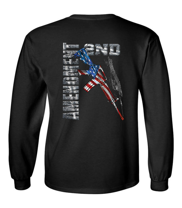2nd Amendment M16 Unisex Long Sleeve T Shirt