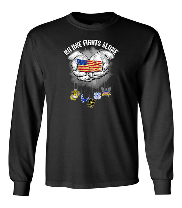 No One Fights Alone - US Army Unisex Long Sleeve T Shirt