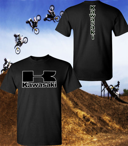 Kawasaki Motorcycle T-Shirt - Kawasaki Racing Team T-Shirt - Unisex Shirt - Black Print