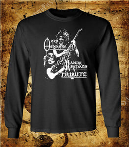 Ozzy Osbourne Randy Rhodes Tribute Long Sleeve Shirt