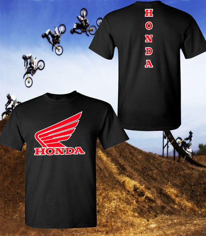Honda Wing Motorcycle T-Shirt - Honda Racing Team T-Shirt - Unisex Shirt - Red Wing