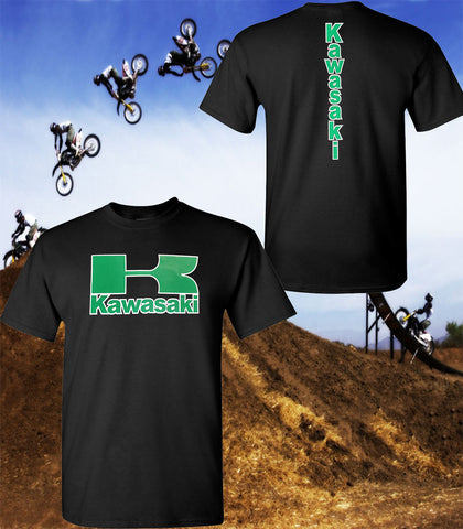 Kawasaki Motorcycle T-Shirt - Kawasaki Racing Team T-Shirt - Unisex Shirt - Green Print