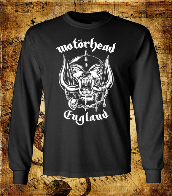 Motorhead England Logo Long Sleeve Shirt