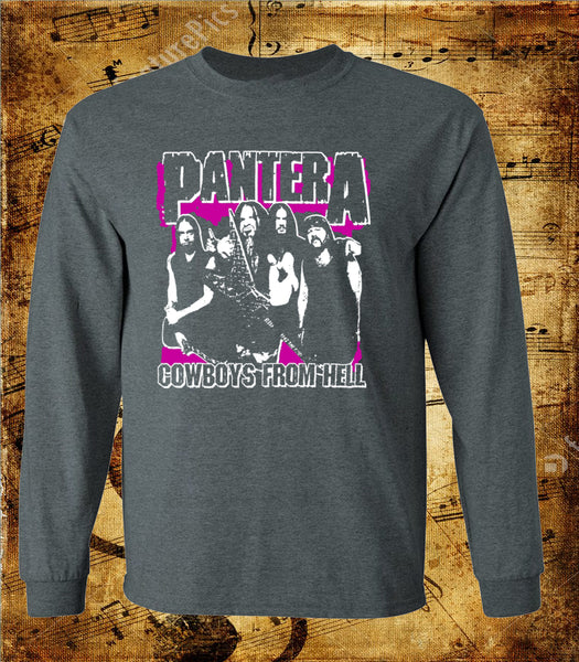 Pantera Cowboys From Hell Whole Band Long Sleeve Shirt