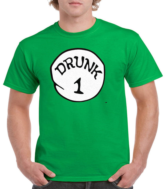 Drunk 1 Drunk 2 - Drunk 1,2,3,4,5, | Funny Drinking Team, Group Halloween Costume Unisex T-Shirt