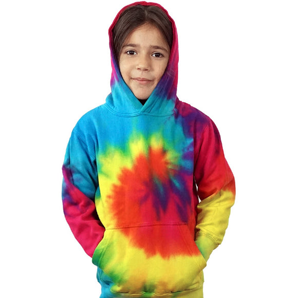 Youth NEW Pastel Color Tie Dye Hoodie Pullover - Unisex Kids Size XXS-XL
