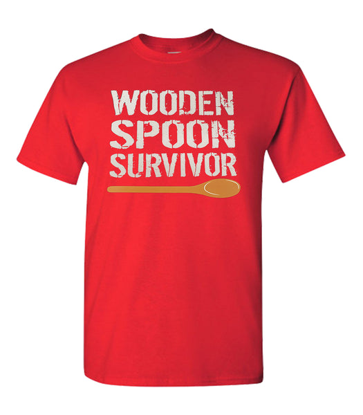 WOODEN SPOON SURVIVOR FUNNY UNISEX T-SHIRT