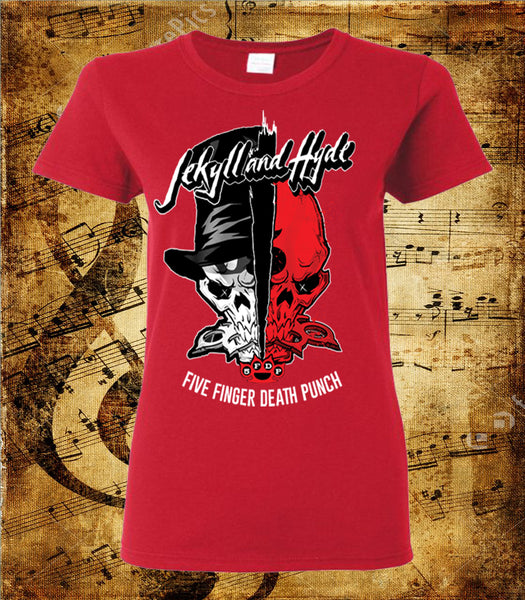 Five Finger Death Punch Jekyll and Hyde Women's Cut Short Sleeve T-Shirt