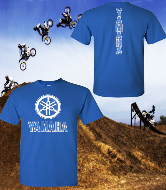 Yamaha Motorcycle T-Shirt - Yamaha Racing Team T-Shirt - Unisex Shirt - Blue Print