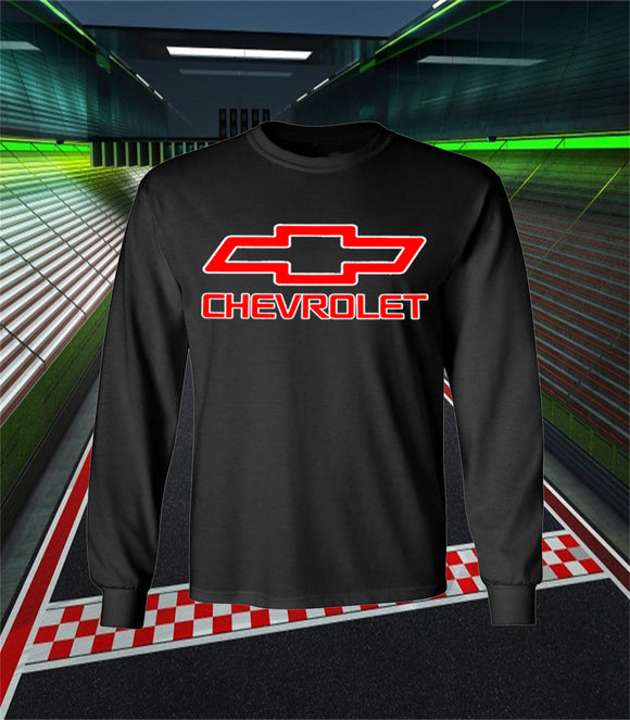 Chevrolet Logo Long Sleeve T Shirt - Chevrolet Racing Team Long Sleeve Shirt