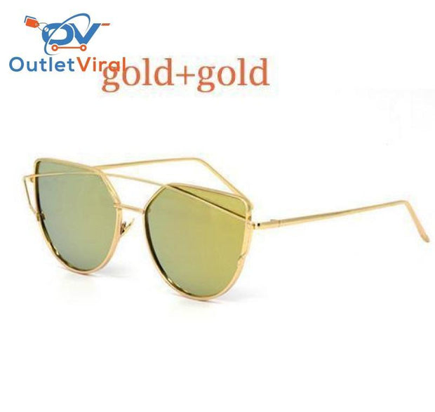 Cats Eye Sunglasses 6627 Gold